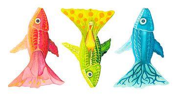 Trois poissons ? sur Edith van Zutven
