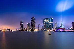 Skyline Rotterdam Rijnhaven view van