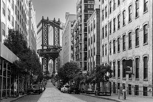 Adams Street In Dumbo Brooklyn  New York