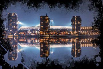 "Feyenoord ART Stade Rotterdam ""De Kuip"" Réflexion sur MS Fotografie | Marc van der Stelt"