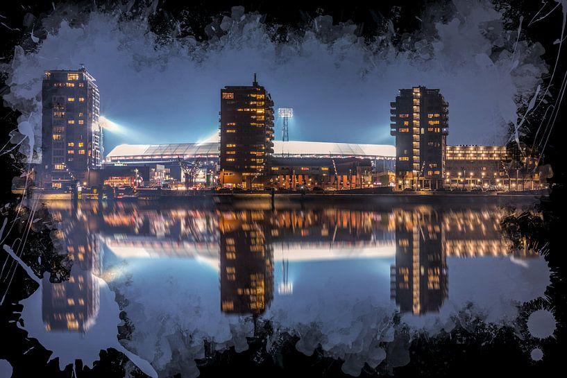 """Feyenoord ART Rotterdam Stadion """"De Kuip"""" Reflectie van MS Fotografie   Marc van der Stelt"""
