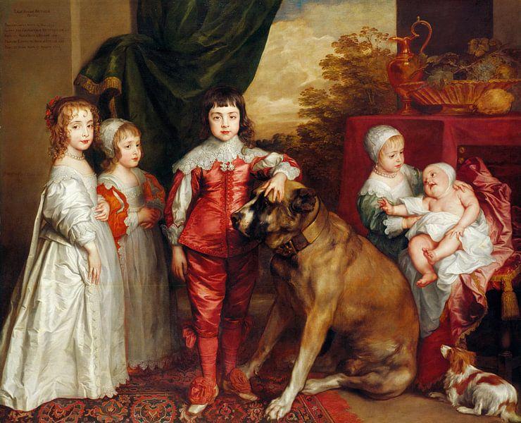 Fünf älteste Kinder Karls I., Anthony van Dyck von Meesterlijcke Meesters