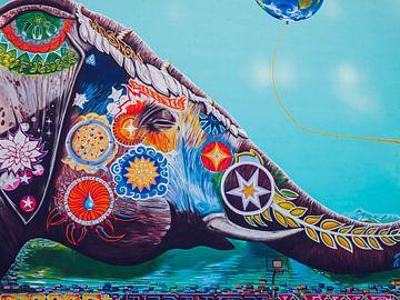 Berlin – Elephant Mural von Alexander Voss