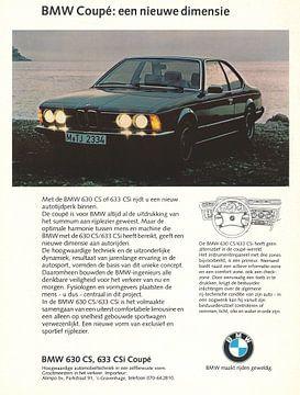 Vintage reclame BMW 630 CS van Jaap Ros