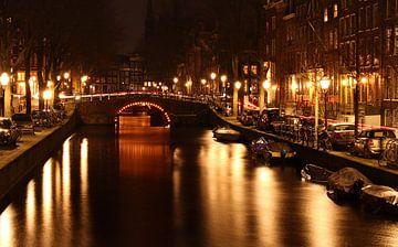 Amsterdam bei Nacht von Marjo Snellenburg
