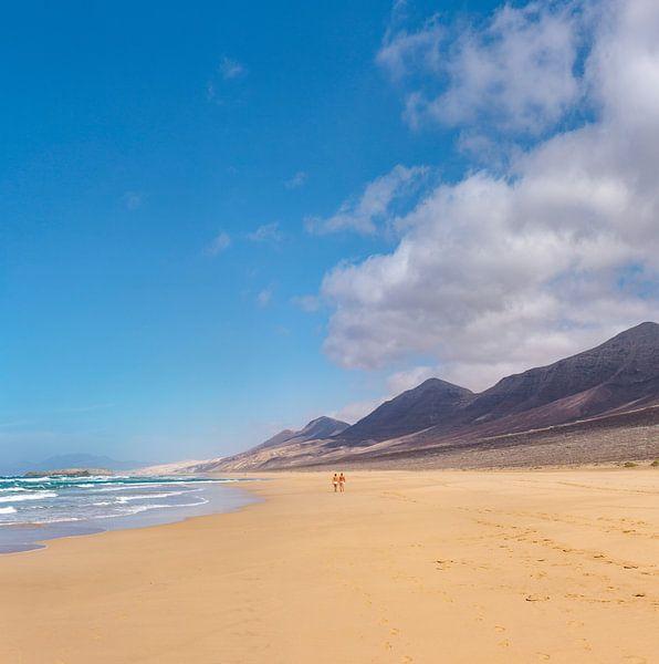 Playa de Cofete, Parque Natural de Jandia, Cofete, Fuerteventura, Canary Islands, Spanje, van Rene van der Meer