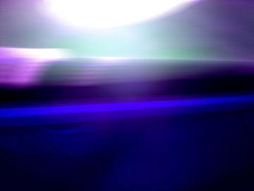 Lichtsnelheid in blauw van Marcel Römer