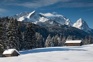Blick zur Zugspitze bei Garmisch-Partenkirchen