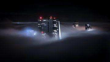 Rotterdam in de mist van Jeroen van Dam