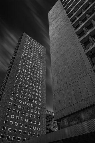 Wolkenkrabber in Rotterdam.