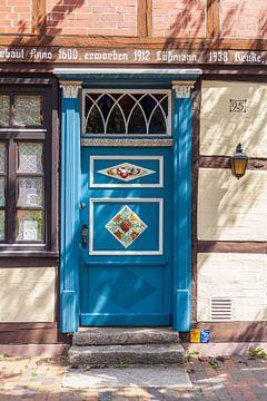Tür an einem Fachwerkhäus, Altstadt, Celle, Lüneburger Heide, Niedersachsen, Deutschland, Europa von Torsten Krüger