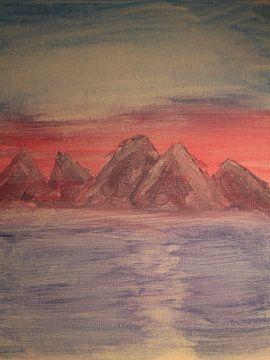 Berge am Meer von Marieke Modderman