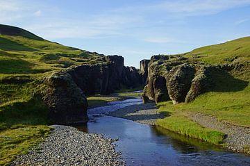 De Fjaðrárgljúfur kloof in IJsland van Discover Dutch Nature