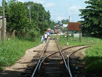 Treinspoor Santa Clara, Cuba van Dionijsius Horik