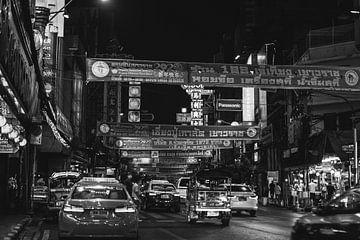 Chinatown, Bangkok in Schwarz-Weiß von Bart van Lier