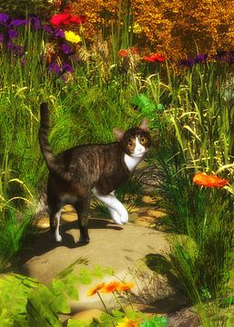 Katten – Een kat draait zich om van Jan Keteleer