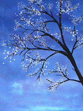 Baum in voller Blüte von Bianca Wisseloo