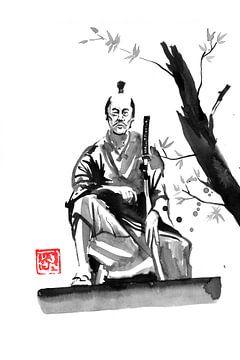 Samurai sitzend