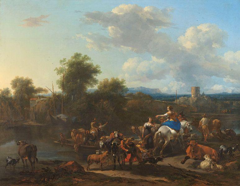 Der Ponton, Nicolaes Pietersz. Berchem von Marieke de Koning
