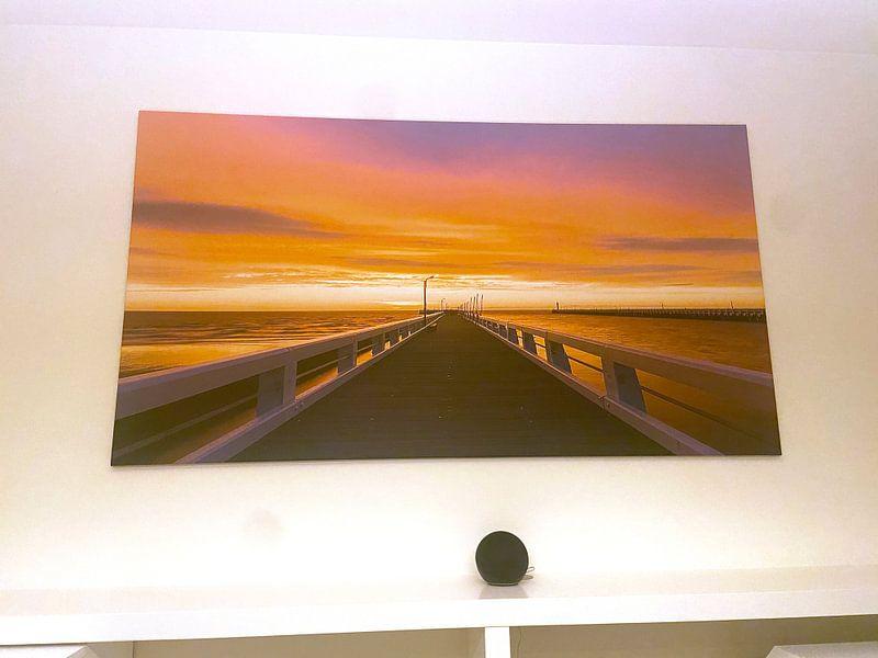 Klantfoto: Belgie - Nieuwpoort - Gouden zonsondergang bij de Pier van Fotografie Krist / Top Foto Vlaanderen