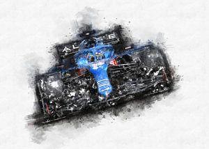 Fernando Alonso 2021 von Theodor Decker
