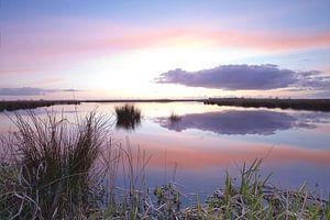 Zonsondergang over de Onlanden bij Matsloot (4)