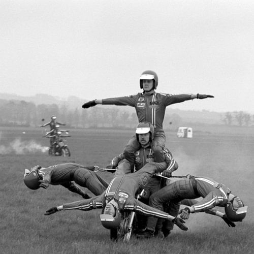 Stunt rijden 1970 van