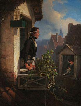 Carl Spitzweg, Die Mansarde II/II 1855 von Atelier Liesjes