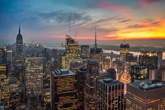 New York Panorama III van Jesse Kraal