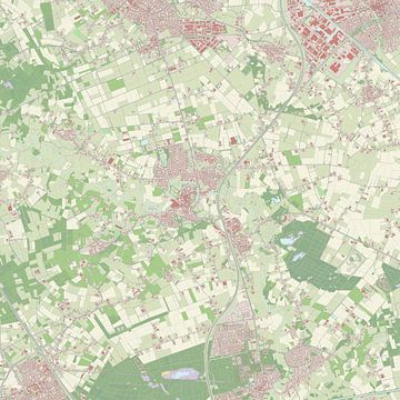 Kaart vanSint-Oedenrode