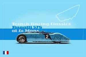Bugatti 57G in Le Mans, Frankreich