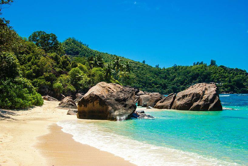Droomstrand Baie Lazare  - Mahé - Seychelles van Max Steinwald