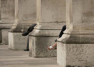 Patronen bij de Louvres, Parijs van Jerome Coppo