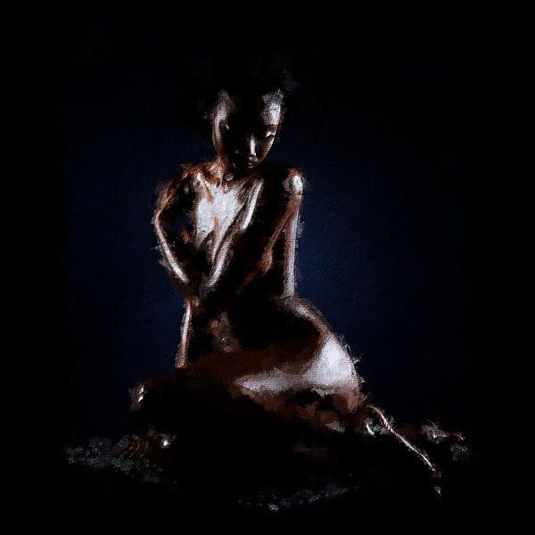 Schwarze Göttin (Gemälde) von Art by Jeronimo