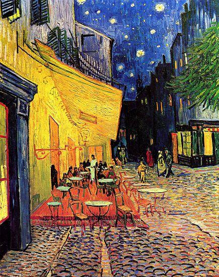 Caféterrasse am Abend (Vincent van Gogh) von Rebel Ontwerp