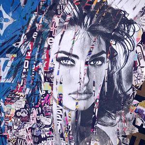 Linda Evangelista Plakative Fashion Collage