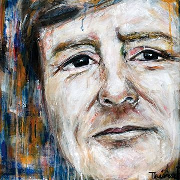 Portret schilderij van koning Willem Alexander. van Therese Brals