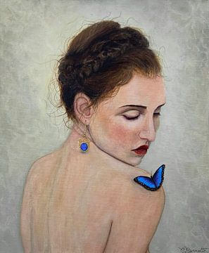 Schmetterling blau von Christian Carrette