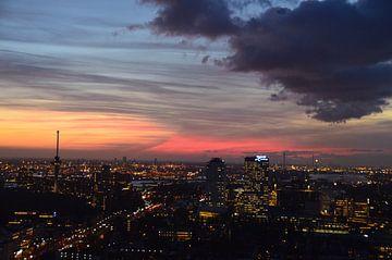 Vroege wintersavond In Rotterdam sur Marcel van Duinen