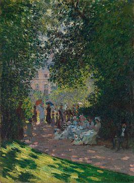 Le Parc Monceau, Claude Monet sur