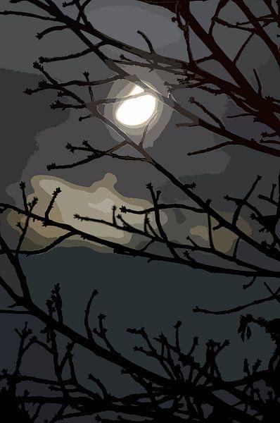 Maanlicht Nacht van Leopold Brix