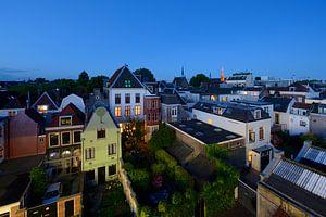 Achterzijde huizen Oudegracht en Haverstraat in Utrecht