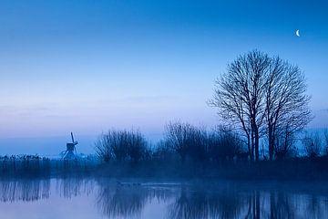 Blue Windmill van Halma Fotografie
