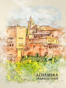 Alhambra van Printed Artings