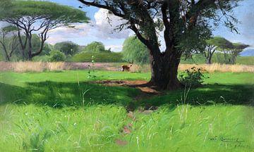 Savanne van Oost Afrika, WILHELM KUHNERT, 1905 van Atelier Liesjes