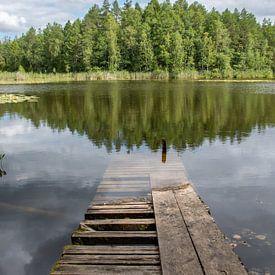Verlaten steiger in Estland van Manon Verijdt