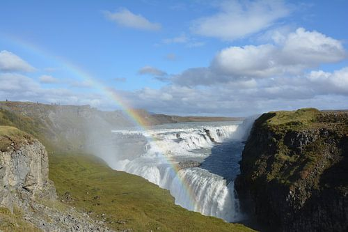 Gullfoss waterval IJsland van Guus Siebel