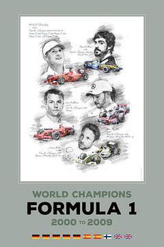 Formule 1-wereldkampioen van 2000 tot 2009 van Theodor Decker