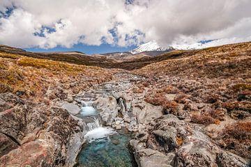 Hooggebergte in Tongariro National Park, Nieuw-Zeeland van Christian Müringer