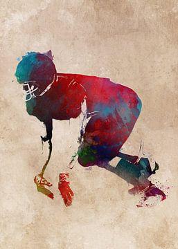 American Football Spieler #Fußball #Sport von JBJart Justyna Jaszke